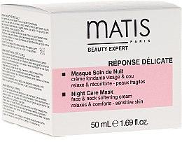 Parfumuri și produse cosmetice Preț redus! Mască de față - Matis Reponse Delicate Night Care Mask*