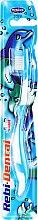 Parfumuri și produse cosmetice Periuță de dinți Rebi-Dental M16, pentru copii, moale, albastră - Mattes