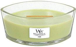 Parfumuri și produse cosmetice Lumânare parfumată în suport de sticlă - WoodWick Hearthwick Flame Ellipse Candle Fern