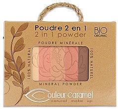 Parfumuri și produse cosmetice Pudră de față - Couleur Caramel Essence De Provence 2in1 Powder