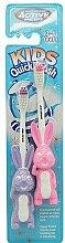 Parfumuri și produse cosmetice Set periuțe de dinți, 3-6 ani, violet+roz - Beauty Formulas Active Oral Care
