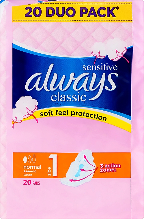 Absorbante, 20 bucăți - Always Classic Sensitive Normal