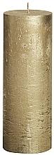 Parfumuri și produse cosmetice Lumânare cilindrică Metalic Gold, 190/68 mm - Bolsius Candle