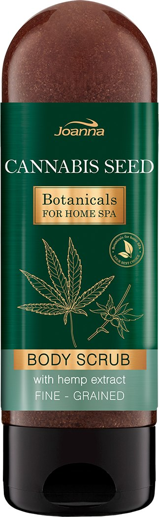 Scrub hidratant de corp - Joanna Botanicals For Home Spa Cannabis Seed Peeling — Imagine 200 g