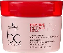 Parfumuri și produse cosmetice Mască regenerantă pentru păr subțire și deteriorat - Schwarzkopf Professional BC Bonacure Peptide Repair Rescue Treatment Mask