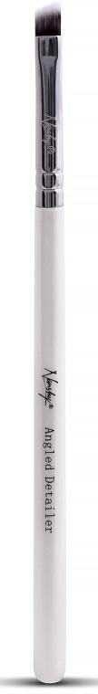 Pensulă pentru ochi și buze - Nanshy Angled Detailer Brush Pearlescent White — Imagine N1