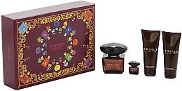Parfumuri și produse cosmetice Versace Crystal Noir - Set (edt/90ml + edt/mini/5ml + sh/gel/100ml + b/lot/100ml)