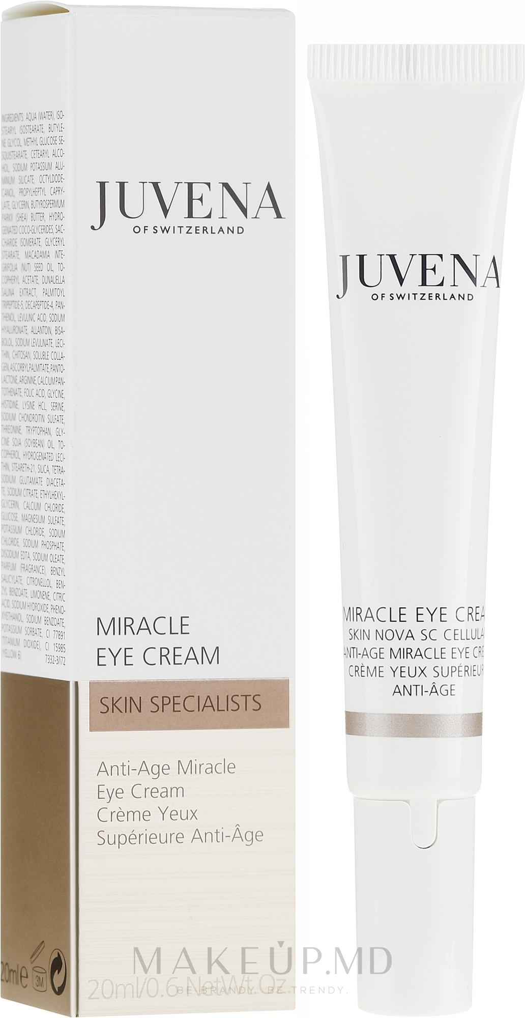 Cremă anti-îmbătrânire pentru zona din jurul ochilor - Juvena Skin Specialists Anti-Age Miracle Eye Cream — Imagine 20 ml