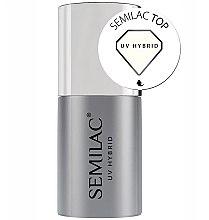 Parfumuri și produse cosmetice Top coat pentru oja semipermanentă - Semilac UV Hybrid