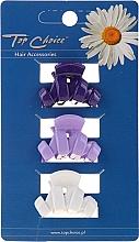 Parfumuri și produse cosmetice Clește pentru păr 24122, albă, mov, albastră - Top Choice