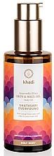 Parfumuri și produse cosmetice Аюрведический эликсир-масло для тела - Khadi Ayurvedic Elixir Skin & Soul Oil Shatavari Everyoung