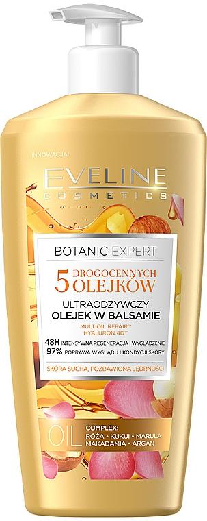 """Loțiune de corp """"5 uleiuri esențiale"""" - Eveline Cosmetics Botanic Expert Essential Oil"""