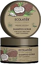 """Parfumuri și produse cosmetice Scrub-șampon pentru păr """"Curățare profundă"""" - Ecolatier Organic Coconut Shampoo-Scrub"""
