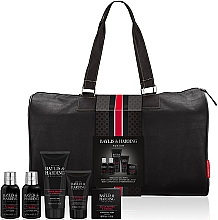 Parfumuri și produse cosmetice Set - Baylis & Harding Signature Men's Black Pepper & Ginseng Weekend Bag(shawer/gel/200ml+soap/150g+hair/body/wash/100ml+b/lot/100ml+a/sh/balm/50ml+acc)