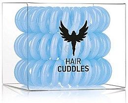 Parfumuri și produse cosmetice Elastice de păr, 3 bucăți - HH Simonsen Hair Cuddles Light Blue