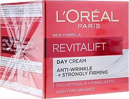 Parfumuri și produse cosmetice Cremă antirid de zi cu elastină - L'Oreal Paris Revitalift Anti-Wrinkle + Strongly Firming Day Cream