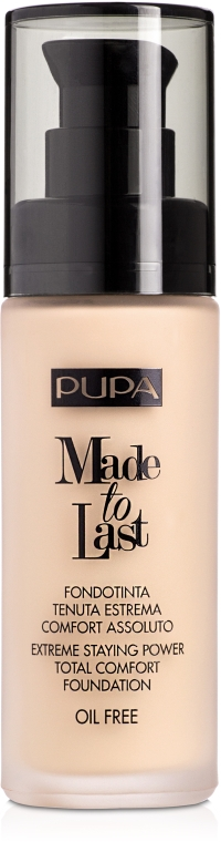 Primer pentru față - Pupa Made To Last Foundation