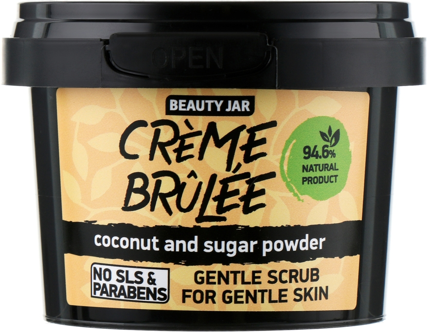 "Scrub pentru față ""Creme brulee"" - Beauty Jar Gentle Scrub For Gentle Skin"