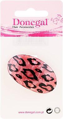 Резинка для волос, 5375, розовая в леопардовых пятнах - Donegal — фото N1