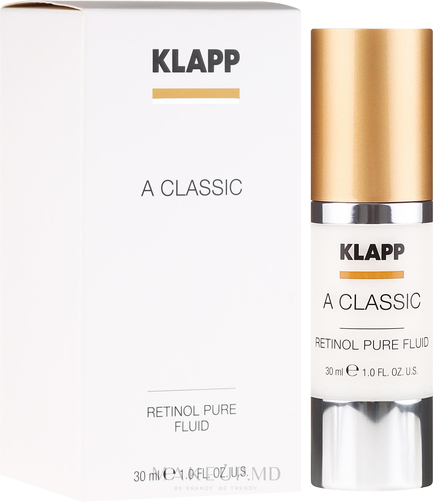 Emulsie pentru față - Klapp A Classic Retinol Pure Serum — Imagine 30 ml
