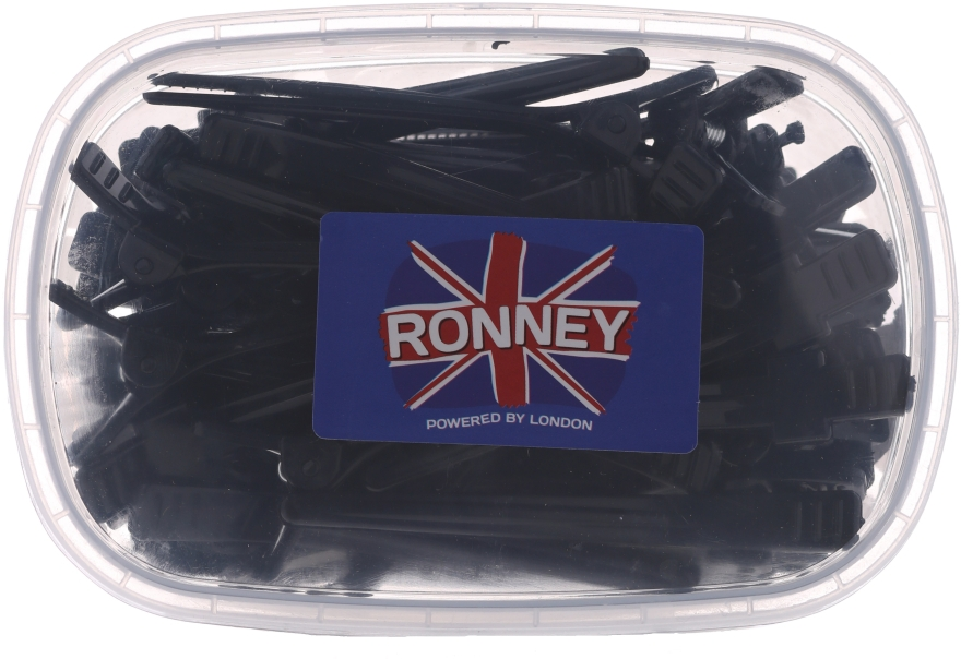 Clame pentru păr, L, 50 buc., RA 00066 - Ronney Professional Hair Clip