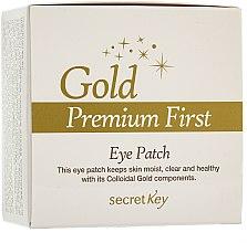 Parfumuri și produse cosmetice Mască pentru zona ochilor - Secret Key Gold Premium First Eye Patch