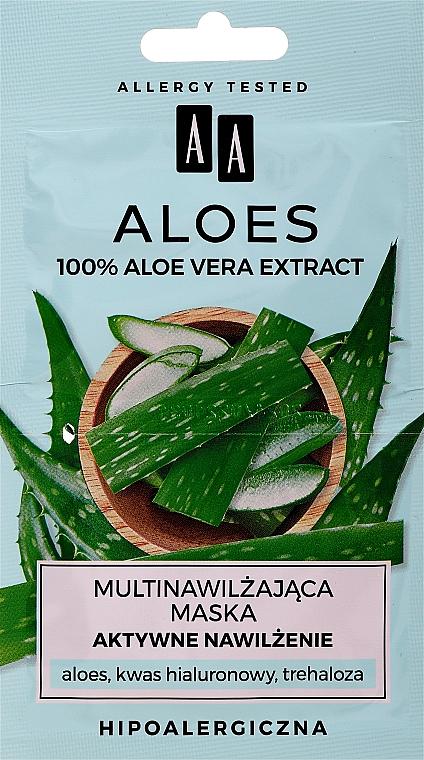 """Mască cu extract de aloe vera """"Hidratare activă"""" pentru față - AA Aloes Face Mask"""