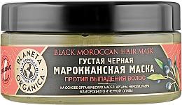 """Parfumuri și produse cosmetice Mască împotriva căderii părului """"Black Maroccan"""" - Planeta Organica Black Moroccan Hair Mask"""
