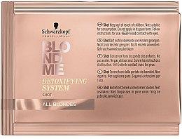 Parfumuri și produse cosmetice Concentrat pentru păr - Schwarzkopf Professional BlondMe Detoxifying System Shot