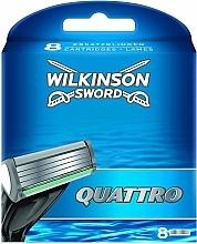 Parfumuri și produse cosmetice Casete de rezervă pentru aparat de ras, 8 buc. - Wilkinson Sword Quattro