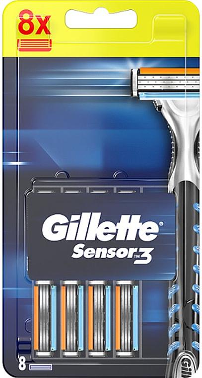 Casete de rezervă pentru aparat de ras, 8 buc. - Gillette Sensor Excel