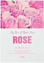 Parfumuri și produse cosmetice Mască facială cu extract de trandafir - A'Pieu My Skin-Fit Sheet Mask Rose