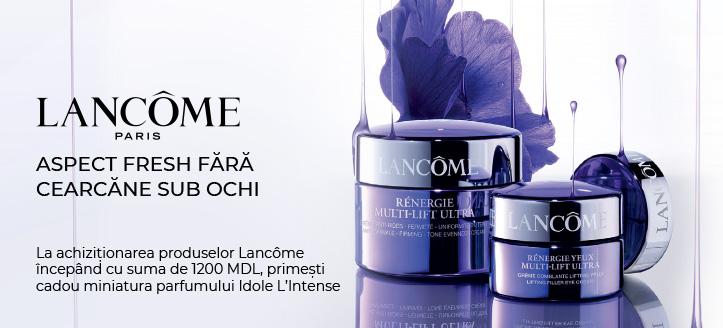 La achiziționarea produselor Lancôme începând cu suma de 1200 MDL, primești cadou miniatura parfumului Idole L'Intense