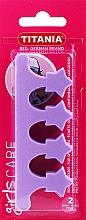 Parfumuri și produse cosmetice Separator pentru degete, violet - Titania