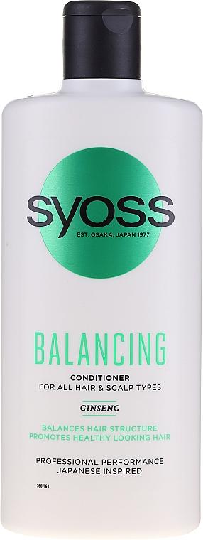 Balsam cu ginseng pentru toate tipurile de păr și scalp - Syoss Balancing Ginseng Conditioner