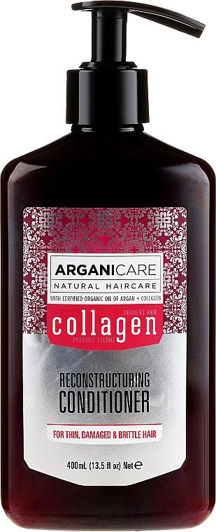 Balsam cu colagen pentru păr - Arganicare Collagen Reconstructuring Conditioner