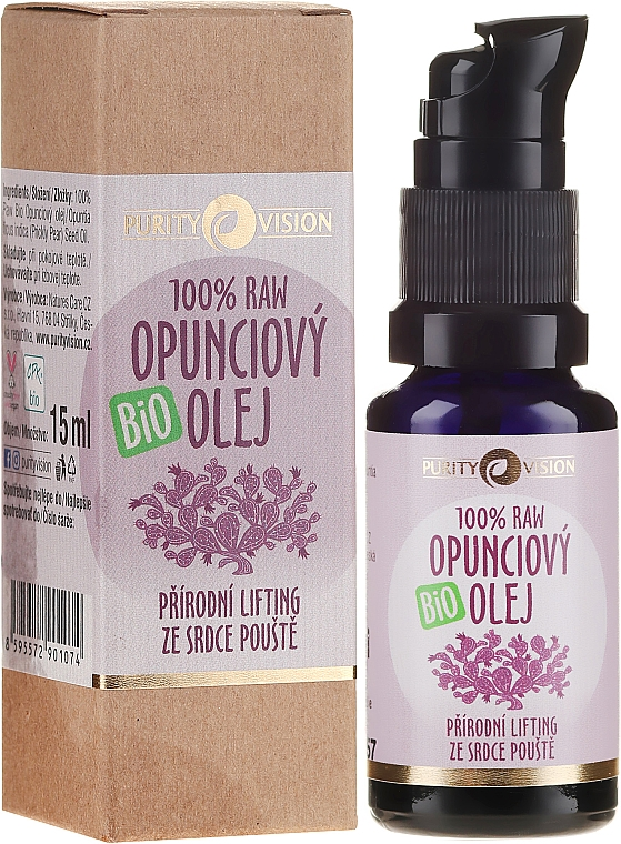 Ulei organic de Opuntia - Purity Vision 100% Raw Bio Oil — Imagine N1