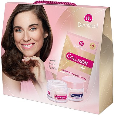 Set - Dermacol Collagen+ (d/f/cr/50ml + n/f/cr/50ml + f/mask/2x8g) — Imagine N1