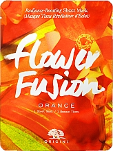 Parfumuri și produse cosmetice Mască din țesătură cu portocală pentru iluminarea tenului - Origins Flower Fusion Radiance Boosting Sheet Mask