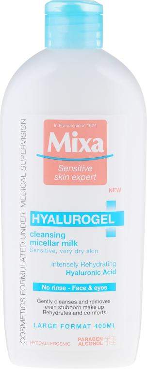 Apă micelară pentru pielea uscată - Mixa Hyalurogel Cleansing Micellar Milk — Imagine N1