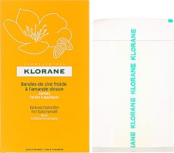 Parfumuri și produse cosmetice Benzi depilatoare cu migdale pentru picioare - Klorane Cold Wax Strips