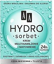 Parfumuri și produse cosmetice Матирующий мультиувлажняющий крем для лица - AA Hydro Sorbet Moisturising & Mattifying Cream