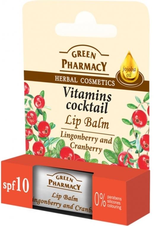 Balsam pentru buze cu extract de răchițele și merișor - Green Pharmacy Lip Balm With Lingonberry And Cranberry