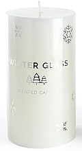 Parfumuri și produse cosmetice Lumânare aromatică, albă, 7x8cm - Artman Winter Glass