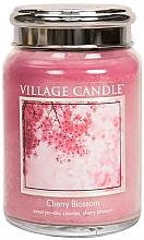 """Parfumuri și produse cosmetice Lumânare parfumată într-un borcan """"Cherry Blossom"""" - Village Candle Cherry Blossom"""