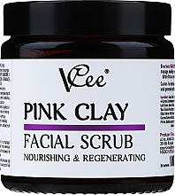 Parfumuri și produse cosmetice Peeling facial cu lut roz - VCee Pink Clay Facial Scrub Nourishing&Regenerating