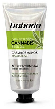 Cremă de mâini - Babaria Cannabis Hand Cream — Imagine N1
