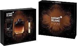 Parfumuri și produse cosmetice Montblanc Legend Night - Set (edp/100ml + edp/7.5ml + ash/balm/100ml)