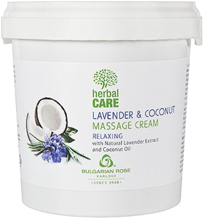 Массажный крем с релаксирующим эффектом - Bulgarian Rose Herbal Care Lavender & Cococnut Massage Cream — фото N4