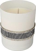 Parfumuri și produse cosmetice Lumânare aromată, alb-neagră, 8x9,5cm - Artman Crystal Glass